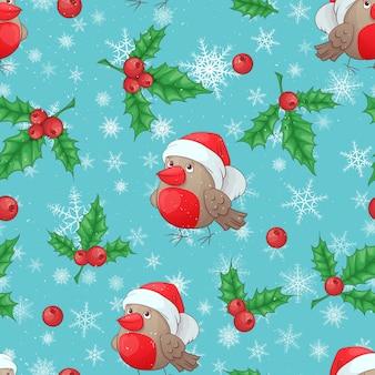 ベクトルクリスマス漫画シームレスなパターン