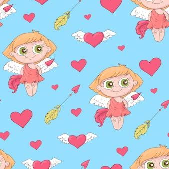 バレンタインデーのシームレスパターン。