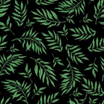 様式化された蘭の枝とのシームレスなパターン