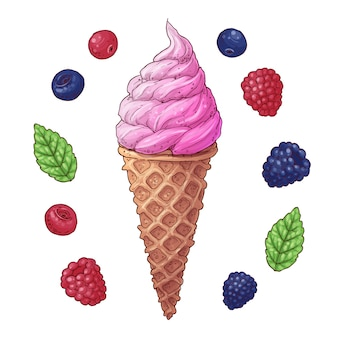 アイスクリームコーンのセット