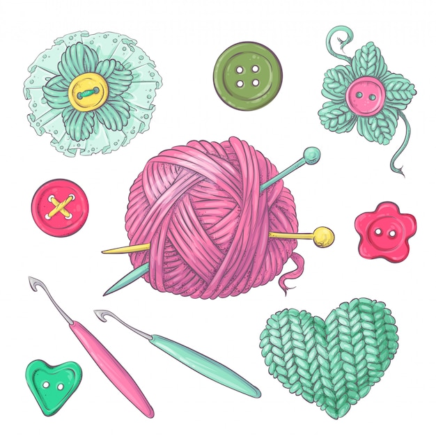 Набор вязаной одежды клубок спицами спицами