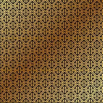 黄金の抽象的なパターンのベクトルの背景