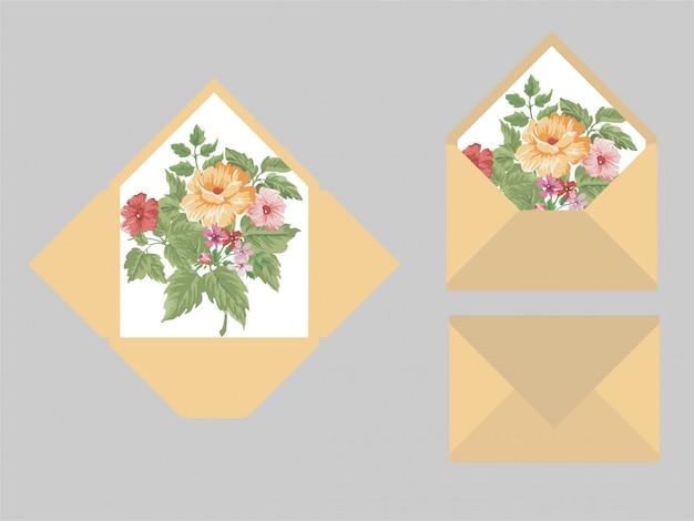 モダンな結婚式の招待状封筒テンプレート