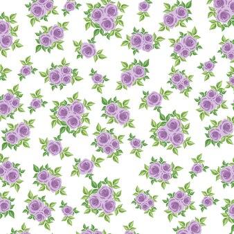 紫色のバラ模様
