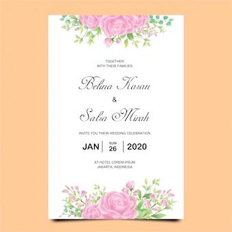 Свадебное приглашение с красивыми розами