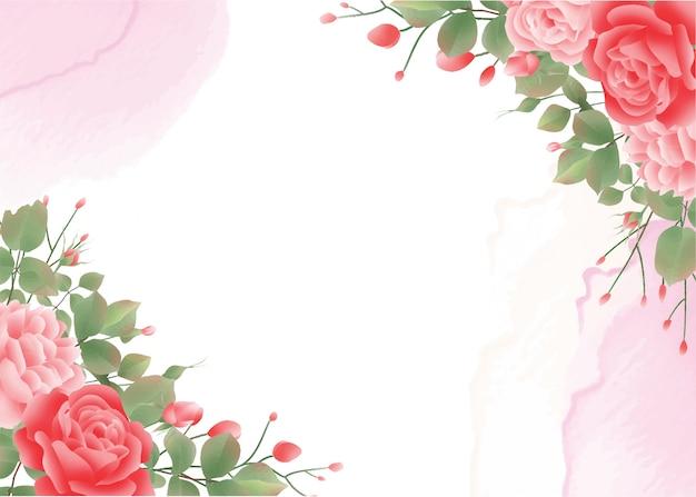 水彩バラ背景
