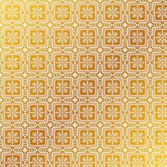 エレガントな黄金のマンダラパターン