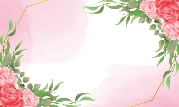 Красивый акварельный цветочный фон