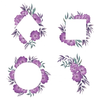 Свадебная рамка с акварельным цветочным декором
