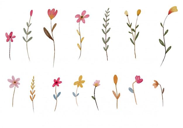Элемент акварель цветник