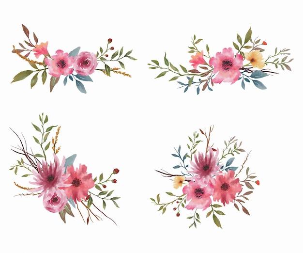Акварельный букет цветов