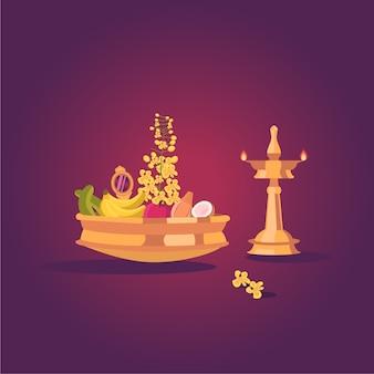 Празднование фестиваля индийских вишу