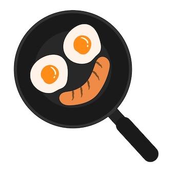 朝食の食品のベクトル図。