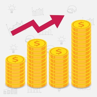 白いビジネスの背景と金貨