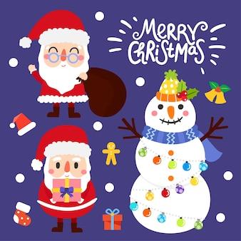 かわいい漫画メリークリスマス。