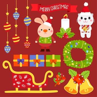 メリークリスマス要素ベクトル。