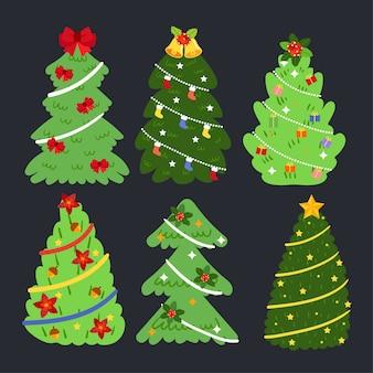 メリークリスマスツリーベクトル。