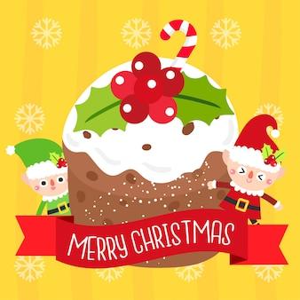 クリスマスケーキベクトル。