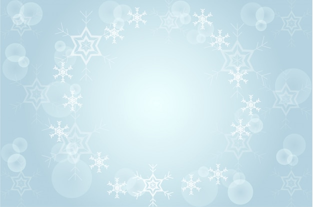 Рождественский размытый снег на синем