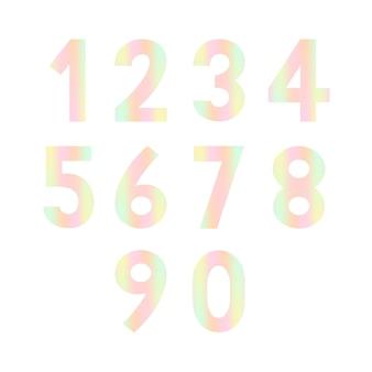 デザインのための数のセット