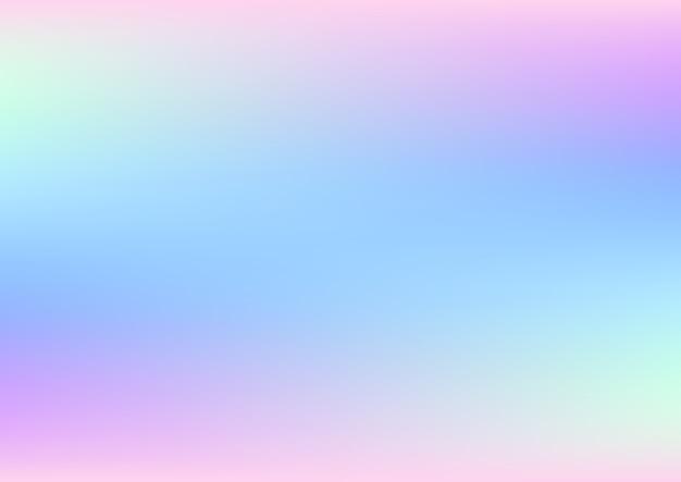 パステルカラーの抽象的なホログラフィック背景