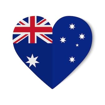 Флаг австралии с оригами в форме сердца