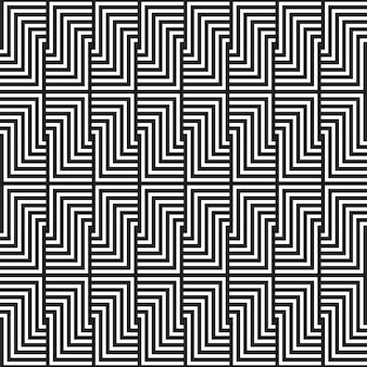 黒と白の幾何学模様のデザイン