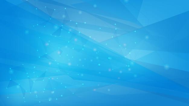 青い色の多角形図形の背景