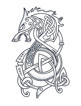 勇敢なバイキングの紋章