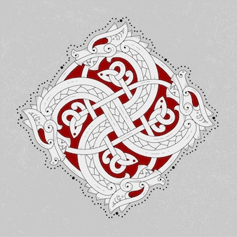 Страшная скандинавская змея логотип