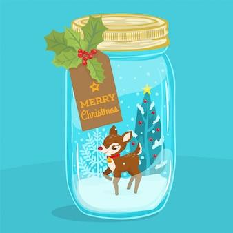 クリスマスの思い出とガラスの瓶