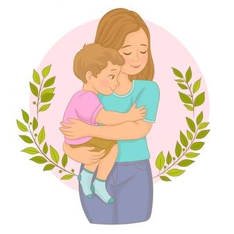 幸せな母持株赤ちゃん