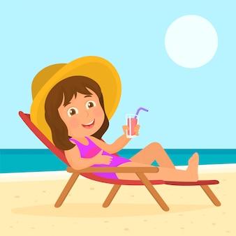 ビーチで水着の女の子