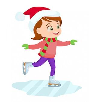 アイススケート女の子