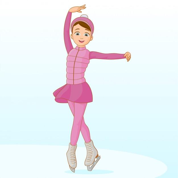 室内氷でスケート