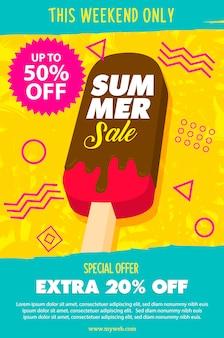 Постер с тающим мороженым