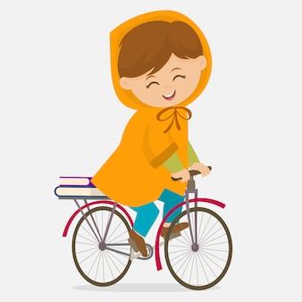サイクルで学校に行く
