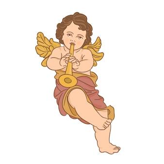 天使とトランペット