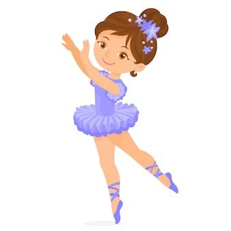 ポーズの小さなバレエダンサー