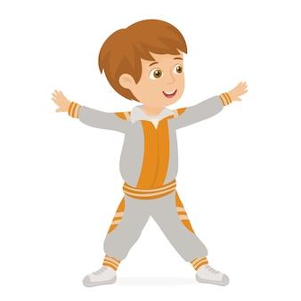 学校で運動をする