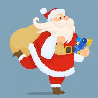 サンタクロースのクリスマスギフトバッグ