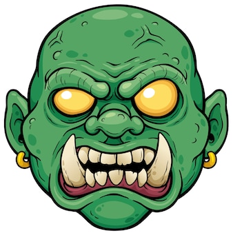 Мультяшное лицо зомби