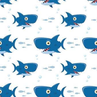 Бесшовный фон акула