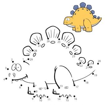 Детская игра точка в точку динозавр