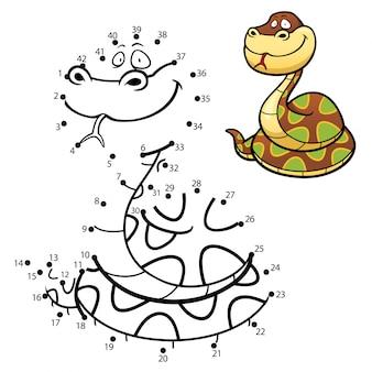 Детская игра точка в точку змея