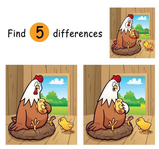 子供向けゲームで違いを見つける