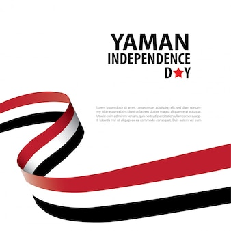 ヤン独立記念日の背景バナーテンプレート。イエメン独立記念日
