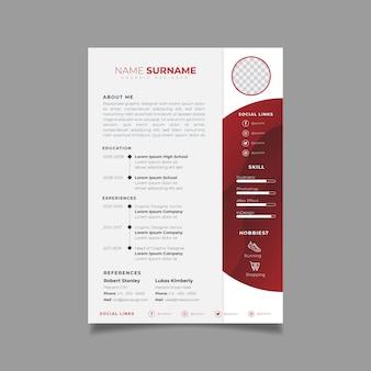 Профессиональный шаблон дизайна резюме с минималистским стилем