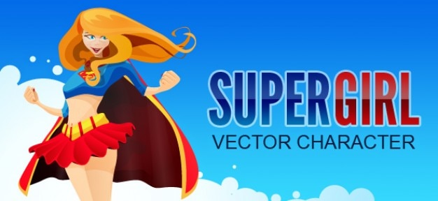 Супергероя характера вектор девушки