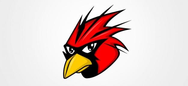 Красные векторные иллюстрации птиц